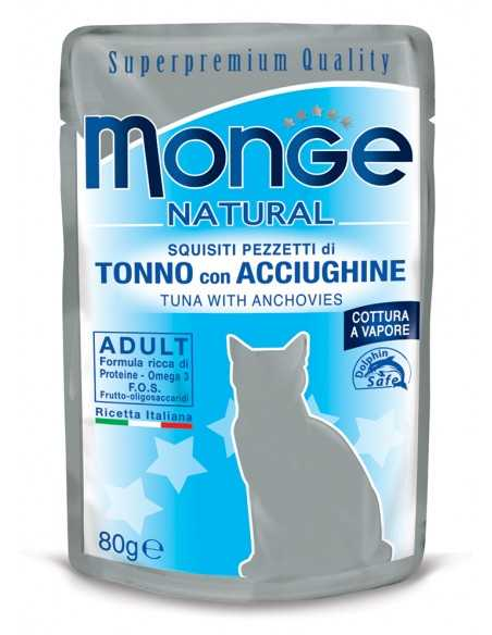 MONGE NATURAL TUŃCZYK ŻÓŁTOPŁETWY W GALARECIE 80G