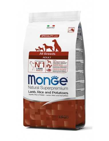 MONGE LAMB WITH RICE AND POTATOES 2.5KG
