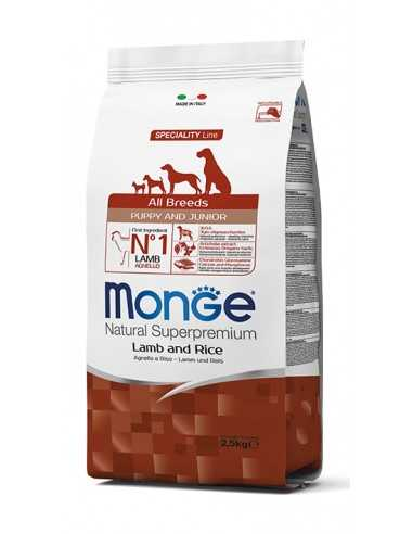 MONGE LAMB PUPPY WITH RICE 2.5 kg