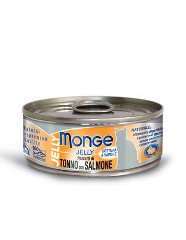 MONGE JELLY TUNA WITH SALMON IN...