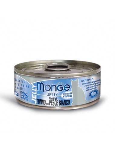 MONGE JELLY TUNA WITH WHITE FISH IN A...