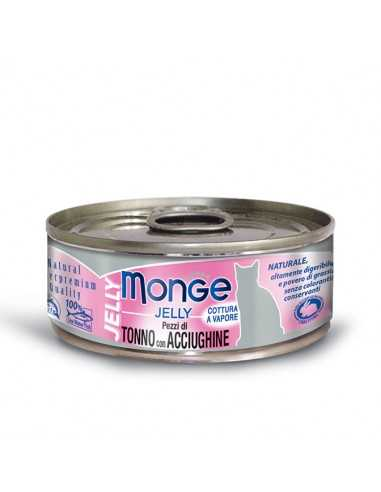 MONGE JELLY TUNA WITH SPOTS IN JELLY 80G