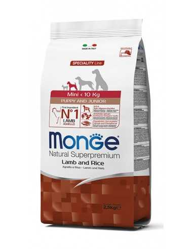 MONGE MINI PUPPY LAMB AND RICE 2.5KG