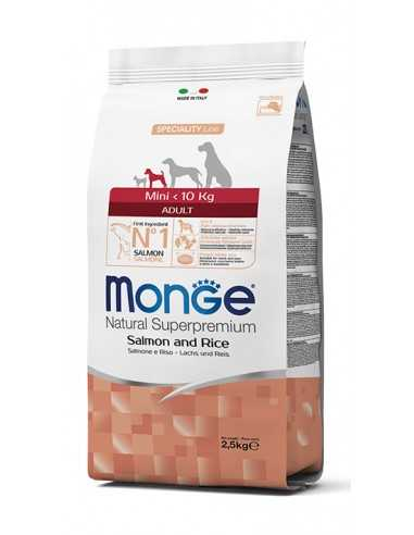 MONGE MINI SALMON WITH RICE 2.5KG