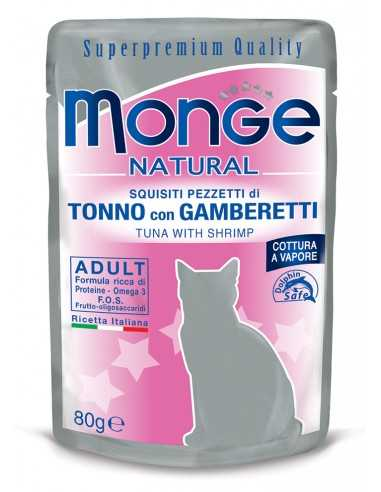 MONGE NATURAL TUNA WITH PRAWNS IN A...