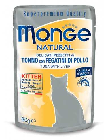 MONGE NATURAL KITTEN TUNA MIT...