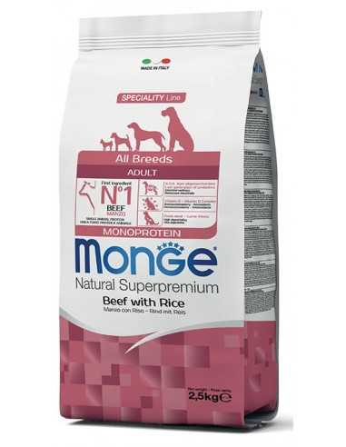 MONGE MONOPROTEIN BEEF AND RICE 2.5KG
