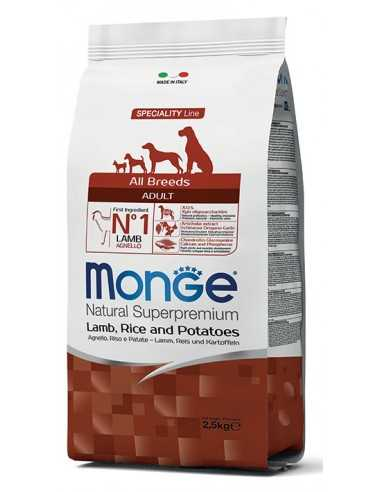 MONGE LAMB WITH RICE AND POTATOES 12KG
