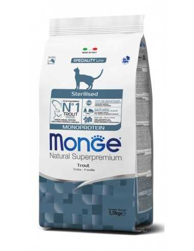 MONGE MONOPROTEIN STERLISED TROUT 1,5 kg