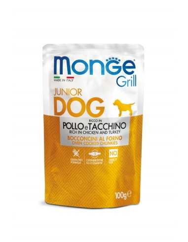 MONGE GRILL PUPPY-MEAT PIECES WITH...