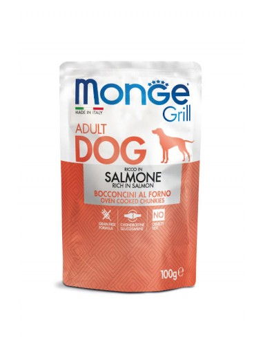 MONGE GRILL-MEAT PIECES WITH SALMON