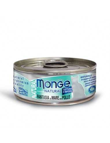 MONGE NATURAL SEAFOOD WITH CHICKEN 80G
